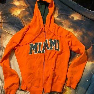 Miami Hurricanes Zip up Hoodie
